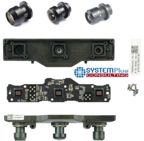 Tesla Triple Forward Camera part collection - System Plus Consulting